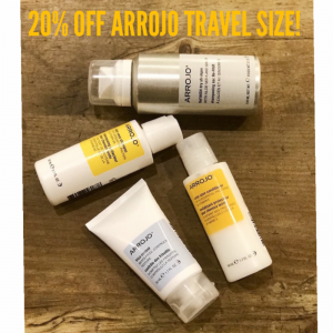 All ARROJO Travel Size Products 20% Off!